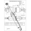 Гидроцилиндр ЦГ-100.60х500.22
