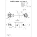Гидроцилиндр ЦГ-110.56х400.11-01