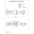 Гидроцилиндр ЦГ-120.85х1185.22