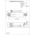 Гидроцилиндр ЦГ-63.40х115.22
