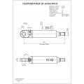 Гидроцилиндр ЦГ-63.40х1200.23