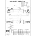 Гидроцилиндр ЦГ-80.50х400.11-04