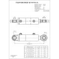 Гидроцилиндр ЦГ-80.50х630.11